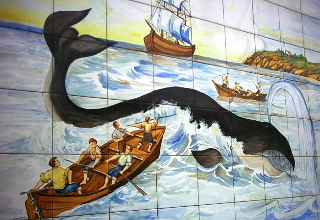 Mural en azulejo cerámico